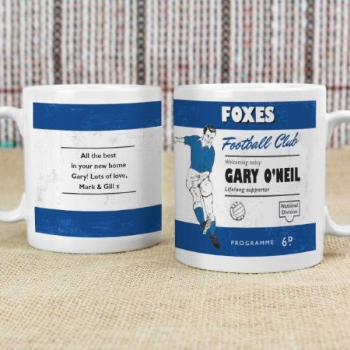 Vintage Blue and White Football Supporter's Mug